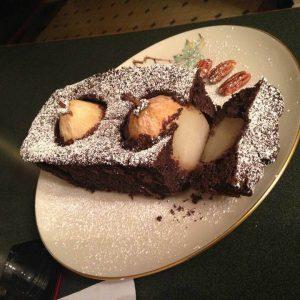 какаов кекс с круши