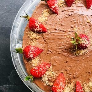 орехова торта с шоколад