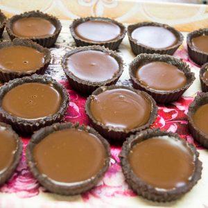 шоколадови мини тарти